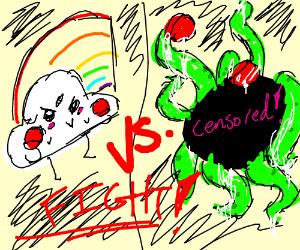 Innocent Rainbow vs Tentacle Hentai
