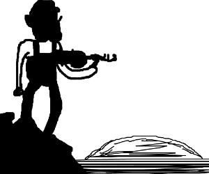 Waluigi Fiddler on the Roof