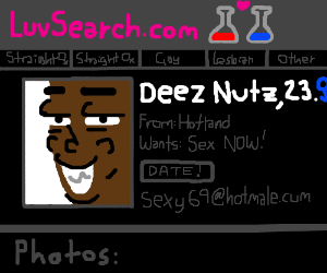 Deez Nuts has a dating profile