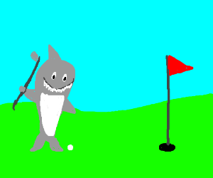 Sharks love golf! Who knew?