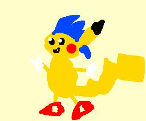 Pikachu as sonic