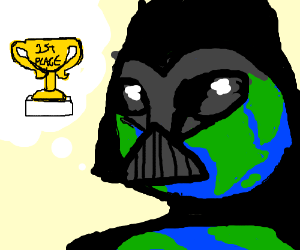Earth Vader.wants the first prize