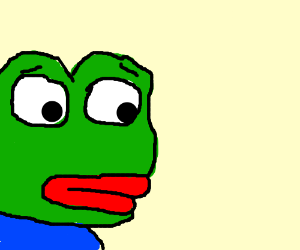 Sad Frog With Big Red Lips Drawing By Foxigami Drawception