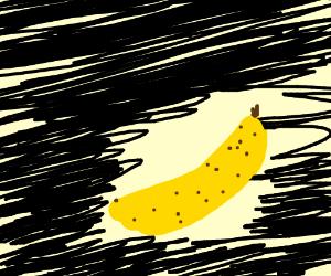 riot man next to banana artist