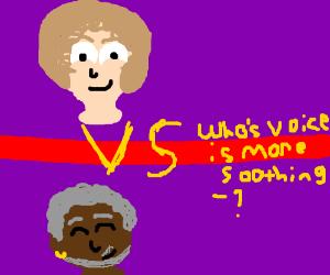 Bob Ross vs Morgan Freeman