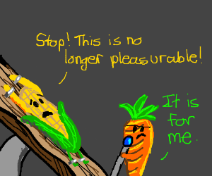 carrot tortures corn