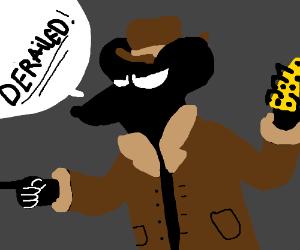 Shady cheese-dealing rat