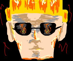 Johnny Bravo is an arsonist.