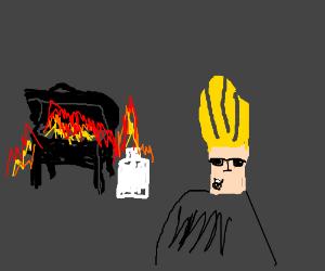 Johnny Bravo ruins the BBQ
