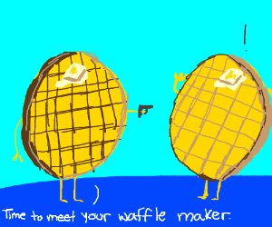 I haven't had a waffle recently. Draw one.