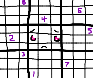 Sudoku makes my eyes feel like prisoners