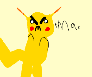 Pikachu has gone mad!
