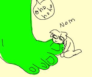 Man Licks Shrek S Toes Drawception