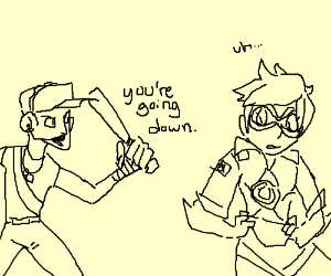TF2 Scout vs. Tracer