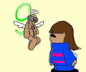 Nine is guardian angel of Frisk fanboy?