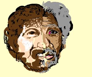 Two-face : Bob Ross / Morgan Freeman