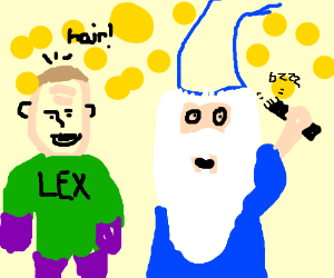 Lex Luthor pays wizard to shave his head