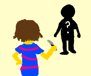 Frisk squares off with... who is that?
