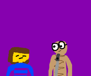 Frisk is visited by '9' from the film '9'