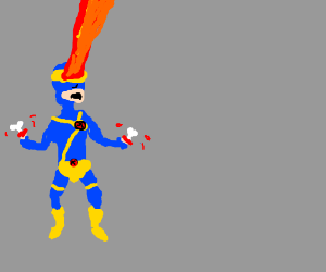 X-Men Cyclops cuts off his hands with lasers