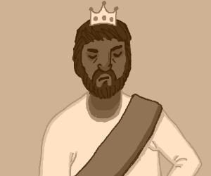 King Jesus blinks angrily