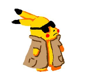 Secret agent pikachu.