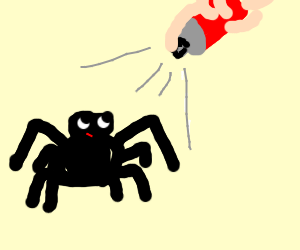 Spray is too smol for spider