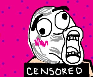 """Nude """"lol face meme"""" man"""