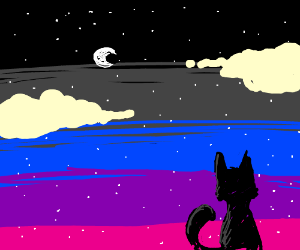 Mind blown by starry night