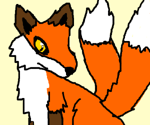 Realistic two-tailed fox despairs of mutation.