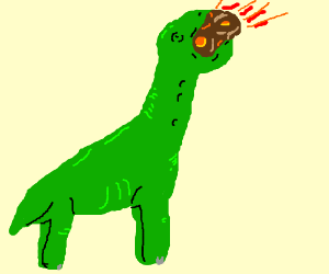 Dinosaurs eat the asteroid that killed them.