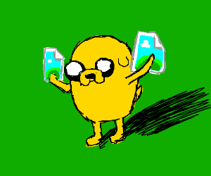 Bottom Games: Jake the Dog and removed panels.
