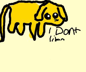 Jake the dog doesn't like broken panels