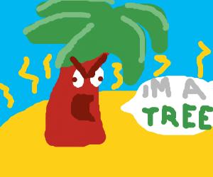 I'MA TREE! @ THE BEACH! IN THE SUN! I'MA TREE!