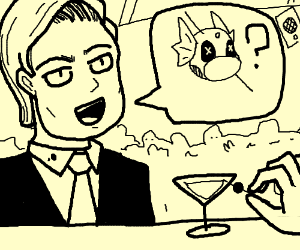 man asks for extra dratini in his martini