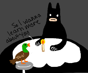 Batman on a date with anyone pio