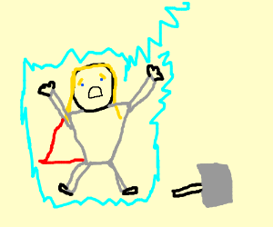 Thor is electrocuted