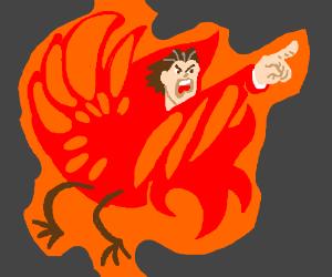 Phoenix Wright is now a phoenix.