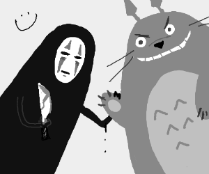 No face (Spirited away) and Totoro