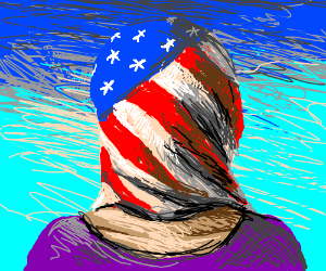 American Flag Face