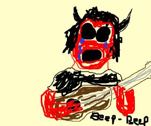 Emo demon (dEMOn) playing the guitar Honks