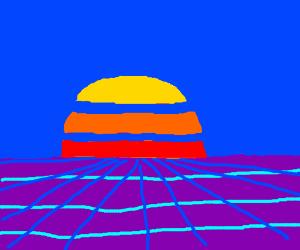 Aesthetic Vaporwave Visuals Drawception