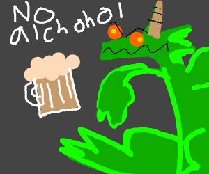 dragon kicks beer