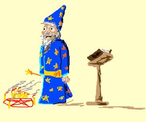 Crazy old wizard man