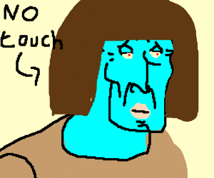 handsome squidward doesn't want wig touched