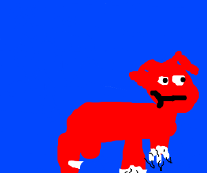 Knuckles (Sonic) as a robotic cow