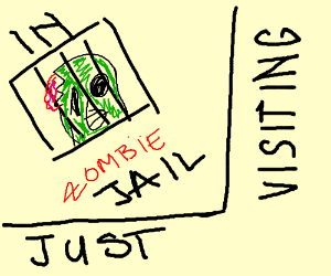 Zombie Monopoly jail