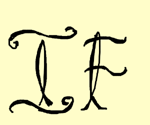 'IF' written in calligraphy.