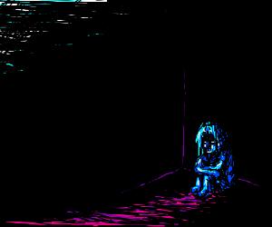 Little cold creature in the dark