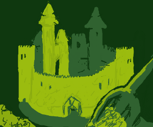 An imposing sand castle